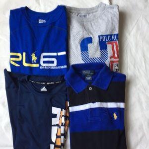 Ralph Lauren $ Adidas Boy's Shirt polo tee S(8)